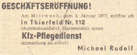 1977 - So fing alles an.